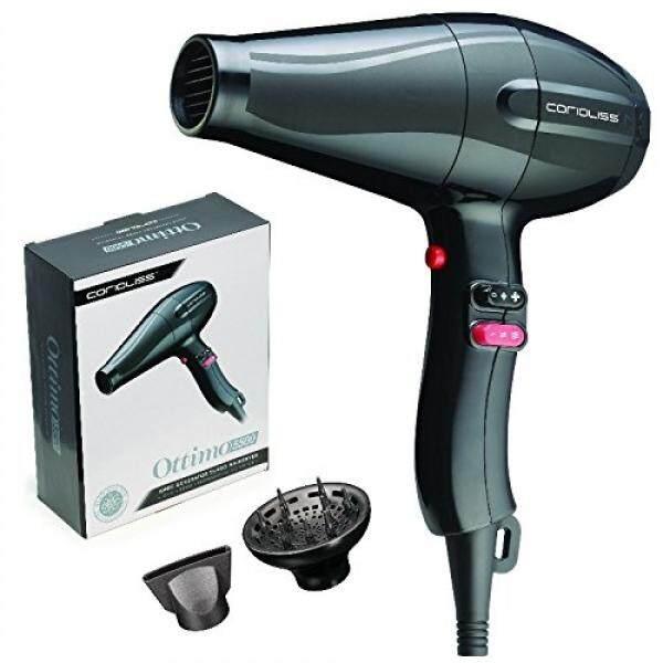 Corioliss Corioliss Ottimo 5500 Ionic Generator Turbo Hair Dryer, 1625W Professional Salon Blow Drying Results, High Shine, Anti-Frizz - intl