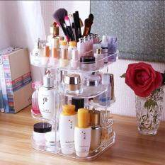 Cosmetic Storage Box Dressing Table Shelf Cute Desktop Lipstick Skin Care Transparent Rotary Acrylic Finishing Tidy Organizer Desk Decor By Teiba Shop.