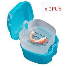 Denture Bath Box Case Dental False Teeth Storage Box With Hanging Net Container By Topshowvie.