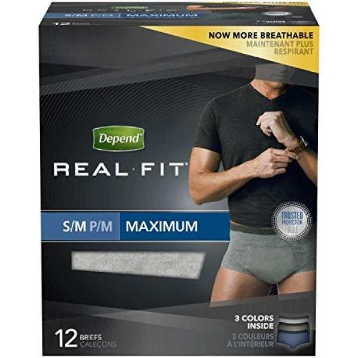Depend Underwear Real Fit Maximum Absorbency for Men, Small/Medium, 12 Count