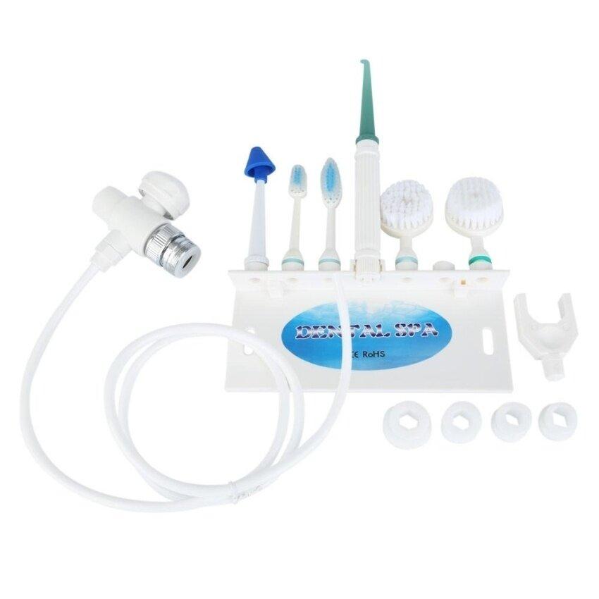 Cuci Keluarga Set Oral Irrigator Spa Sikat Gigi Jet Udara Facecleansing Instrumen Hidung Pembersih (Putih)-Internasional