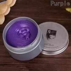 Fancyqube 8 Colors Hair Wax, Professional Natural Matte Hairstyle Hair Dye Wax Hair Care Diy Hair Clay Wax Mud Dye Cream Purple By Fancyqube Fashion.