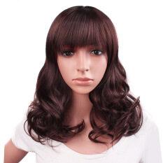 Fashion Supply Jepang dan Korea Selatan Setengah Baya Wanita Wig Coklat  Gelap Wajah Perbaikan Qi Liu de892dd78e
