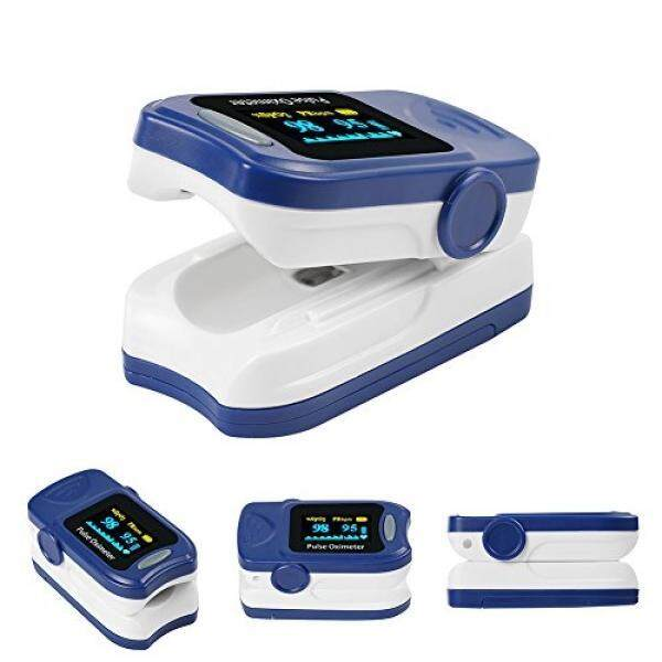 Fingertip Oxygen Monitor FS20A Spo2 Monitor FDA Approved WithLanyard Carrying Case Batteries Blue
