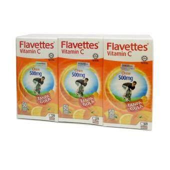 Flavettes Vitamin C Sugar Free Orange 500mg 3X50s
