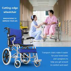 Folding Medical Wheelchair 16 inch Manual Mobility Aid Light Weight 4 brakers