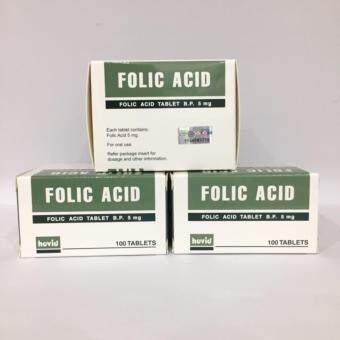Folic Acid 5mg 100 tablets - 3 unit(Free Shipping- Exp: Oct 2020)