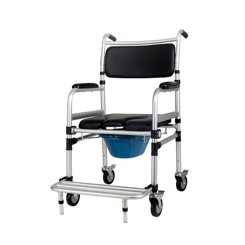 Empat Roda Rem Commode Kursi untuk Lansia Senior, Wanita Hamil, Cacat Pasien DLL.-Internasional