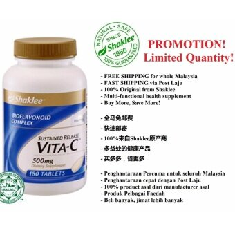 FREE FAST SHIPPING! 100% Original Shaklee Sustained Release Vita-C Plus 180 Tablets (Ready Stock)