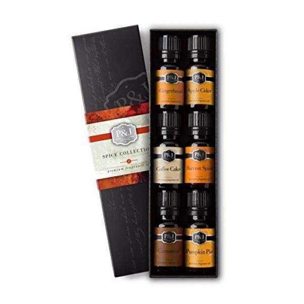 [. Amerika Serikat] Spice Set dari 6 Minyak Wangi Kelas Premium-Cinnamon, Panen Rempah, Cuka Apel, kue Kopi, Gingerbread, Pumpkin Pie-10 Ml B017JFYR1G-Internasional