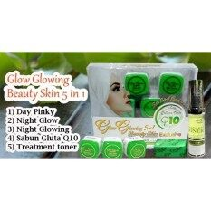 Glow Glowing 5 In 1 - Beauty Skin Exclusive Set With 1x Free Gift Cream Glow Glowing By Miwa Beauty Resolution Shop.