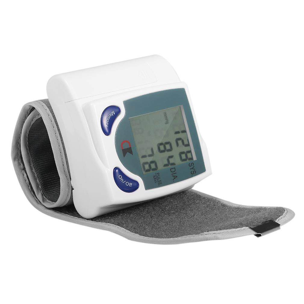 GOOD Digital LCD Wrist Blood Pressure Monitor With Heart Beat Rate Pulse Measure