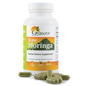 Moringa Organic Herbal Dietary Supplement 120 Capsules per 500mg