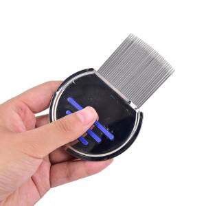 Hình ảnh Grooming Terminator Stainless Steel Hair Lice Brush Cleanning Comb Removal