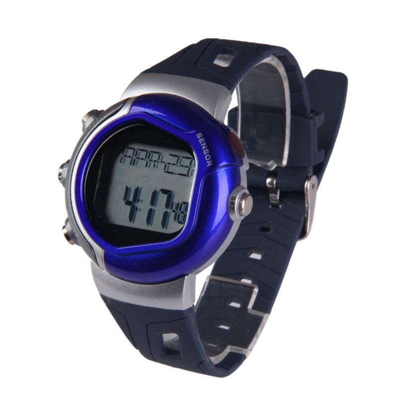 Healthy Sporty Heart Pulse Rate Monitor Calorie Counter Watch 009 Blue bán chạy