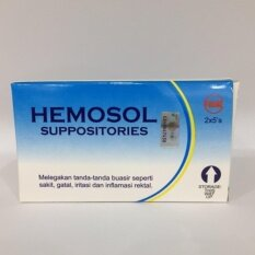 Hemosol Suppositories 2 X 5s By Smart Care Pharmacy.