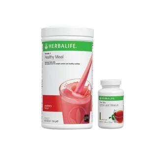 Herbalife Formula 1 (F1) Strawberry + Lemon & Hibiscus Tea Mix 50g