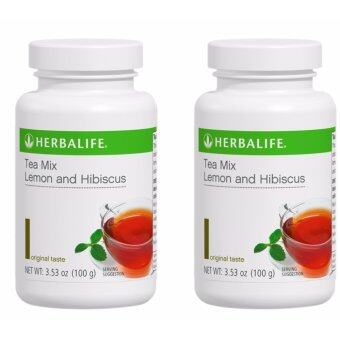 Herbalife Lemon & Hibiscus Tea 100g (Tea Colour- 2 Bottles)