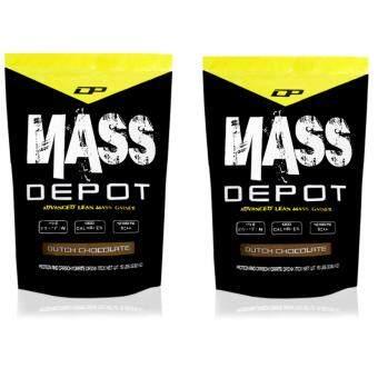 High Protein Mass Gainer – Mass Depot 15lb/6.8kg, 173g Protein From Whey Depot (Dutch Chocolate) x 2 Packets[Bundle]