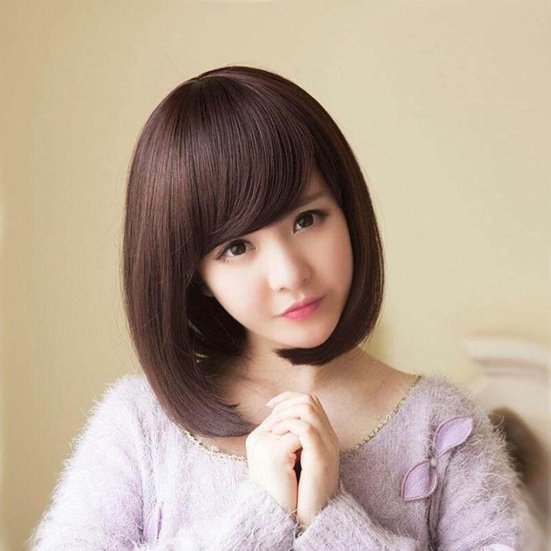 ... Boom Shakalaka Hushgecko Lurus Tahan Panas Wig Rambut Pendek dengan  Datar Poni untuk Wanita Cosplay Pesta 99b81cf05d