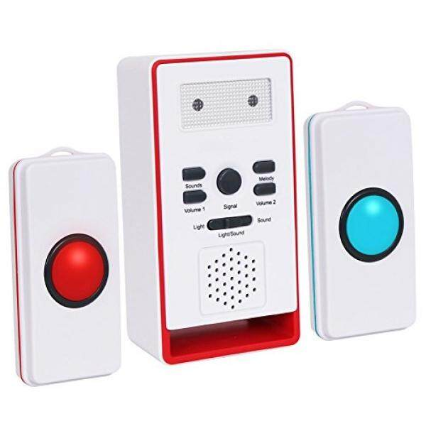 Cheapest Innogear Caregiver Pager With Two Call Button For The Elderly Nurse Call Alert Patient Disabled Intl