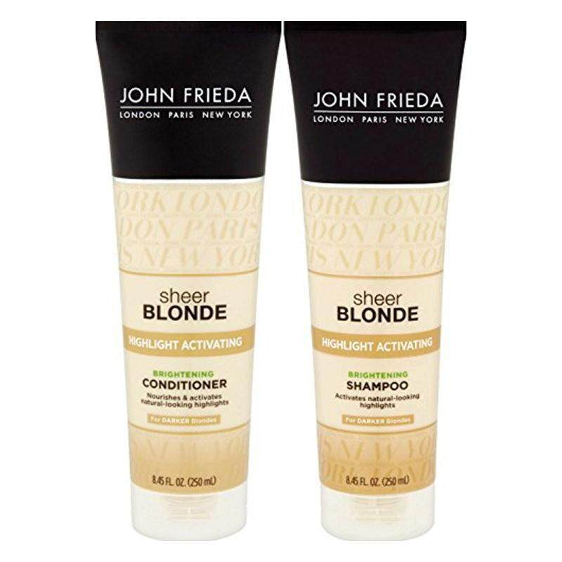 Buy [John Frieda] John Frieda Sheer Blonde Highlight Activating Enhancing, DUO set Shampoo + Conditioner, For Darker Blondes, 8.45 Ounce, 1 each [From USA] - intl Singapore