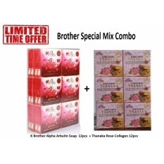 701 Collagen Soap Shopee Malaysia Source · K BROTHER Alpha Arbutin Soap 12 pcs Thanaka Rose Collagen 12pcs