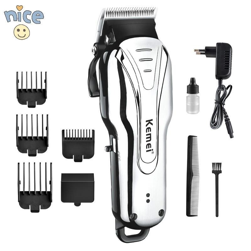 Cheap Kemei1992 Powerful Electric Rechargeable Hair Clipper Low Noise Hair Trimmer With 3 6 10 13Mm Limited Comb Wired Or Wireless Use Intl