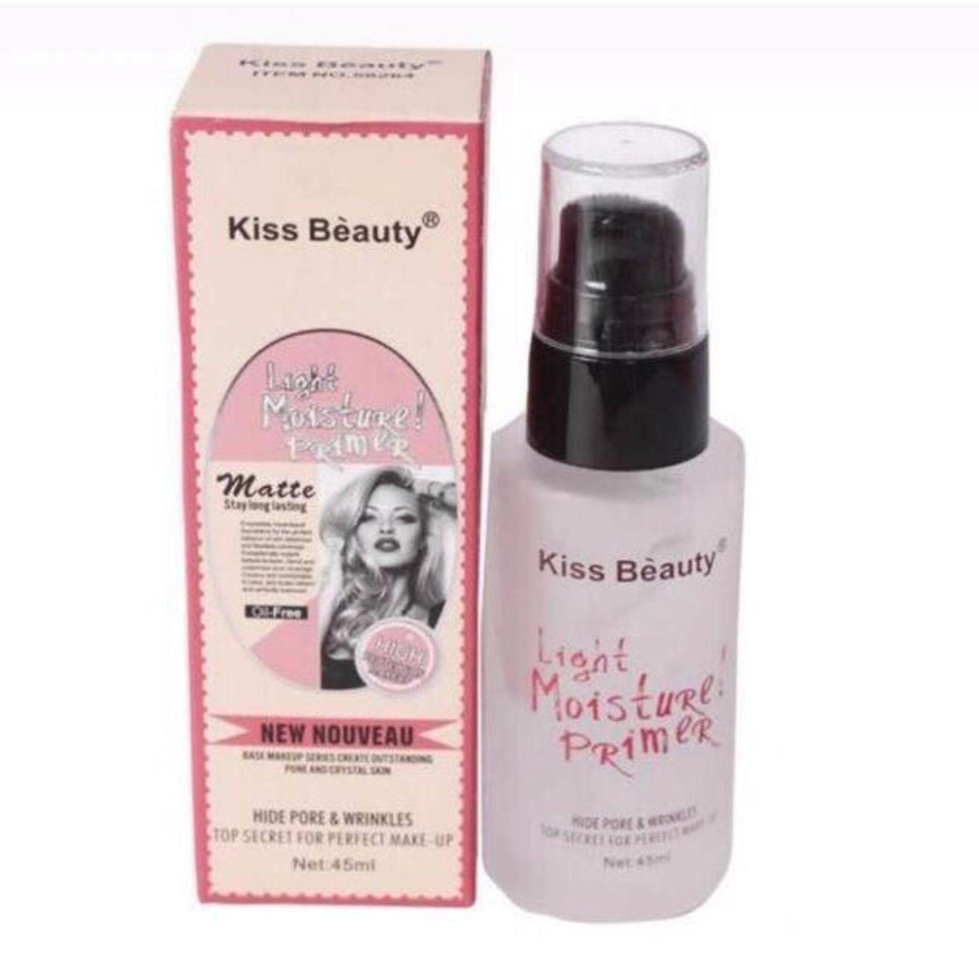 Kiss Beauty Light Moisture Primer 45ml [ Original ]  with Extra Gift