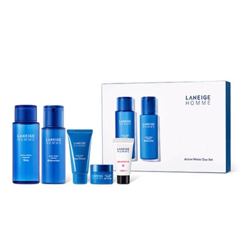 Buy [LANEIGE] Homme Active Water Duo Set 5 items (Toner 180ml + Moisturizer 125ml) MEN - intl Singapore