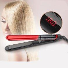LCD Display 2 In 1 Ceramic Coating Hair Straightener Comb Hair Curler  Beauty Care