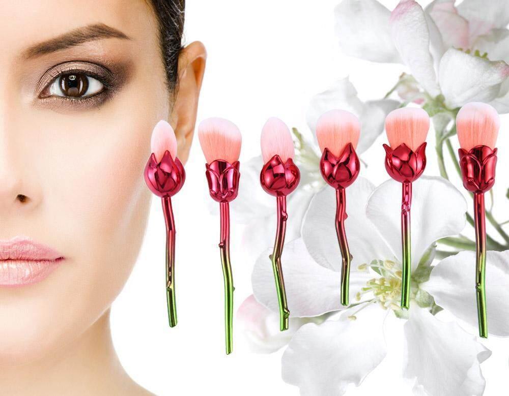 6-pack Magic Rose Makeup Brush Set Premium Mackeup Brushes Cosmetics  Foundation Blending Blush Face Powder Brush - intl