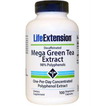 LIFE EXTENSION MEGA GREEN TEA EXTRACT (DECAFFEINATED), WEIGHT MANAGEMENT