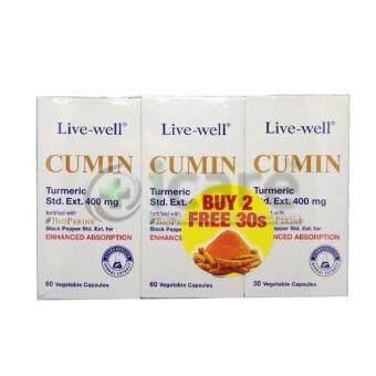 LIVE-WELL CUMIN 400MG 60'S X 2