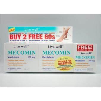 LIVE WELL MECOMIN 500MG 2X90S+60S (for Nerve Pain & Numb)