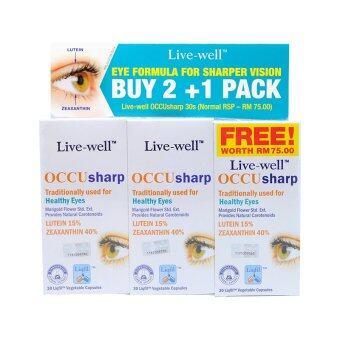 Live Well Occu Sharp 30's x 2 Free 30's
