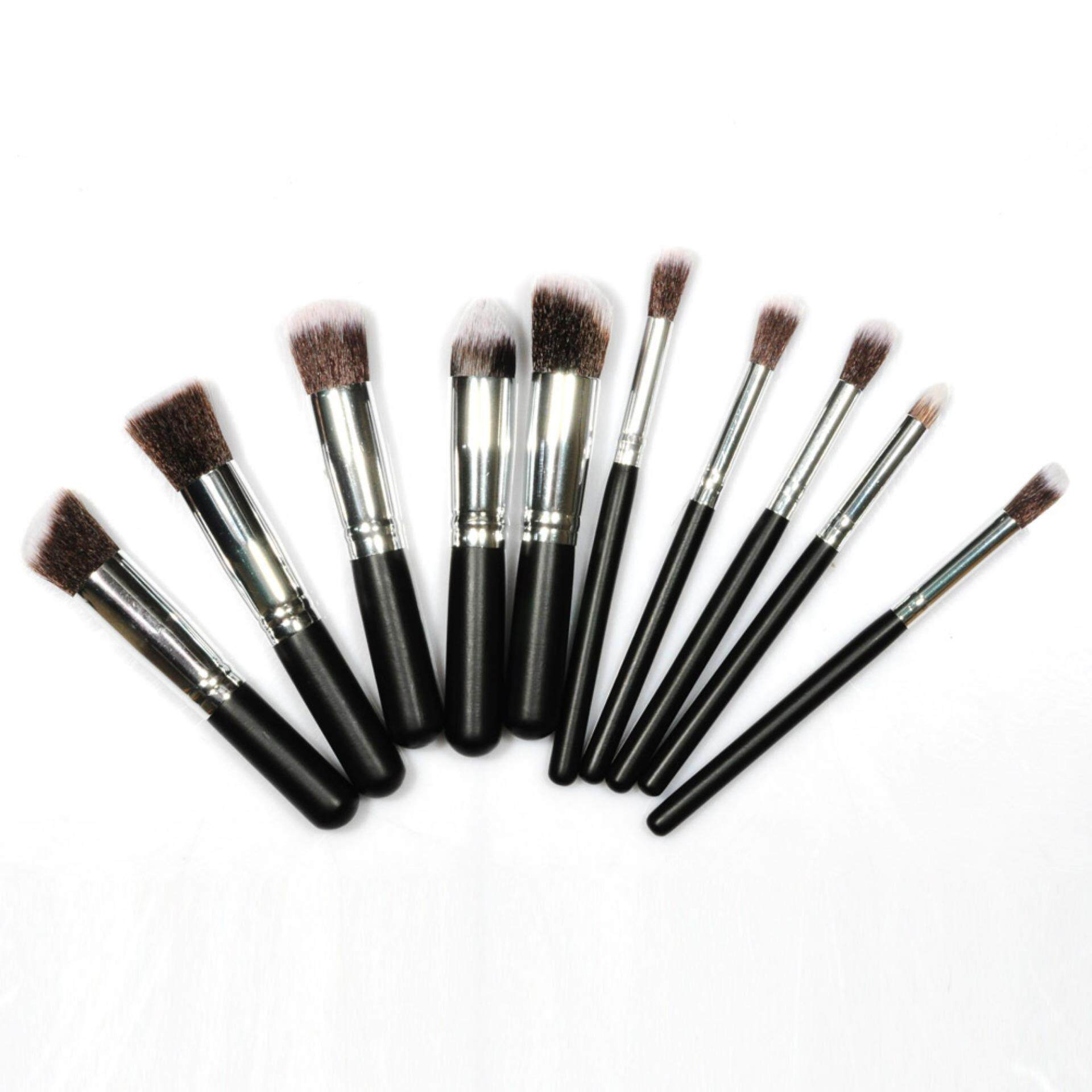 BM Lycheebeauty 10 pcs Professional Makeup Brush Set Beauty Foundation Powder Eyeshadow Cosmetics Make Up Brushes