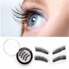 7270be0755b Magnetic False Eyelashes [No Glue] Premium Quality Dual Magnet False  Eyelashes Set for Natural