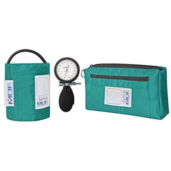 MDF® Bravata® Palm Aneroid Sphygmomanometer - Blood Pressure Monitor with Adult Sized Cuff Included - Teal (MDF848XPD-16) - intl