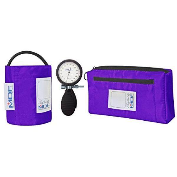 MDF® Bravata Palm Aneroid Sphygmomanometer - Professional Blood Pressure Monitor with Adult Sized Cuff Included - Purple (MDF848XPD-08) - intl