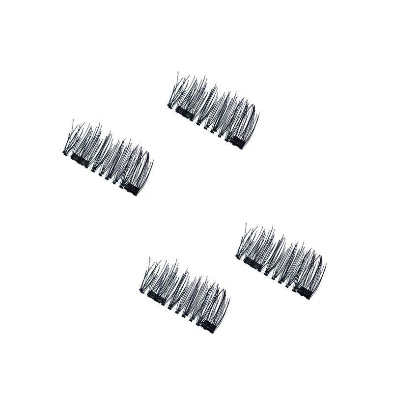 miryo high quality 4Pcs Double Magnet Eyelashes 3D Artificial False Eye Lashes Reusable Makeup - intl