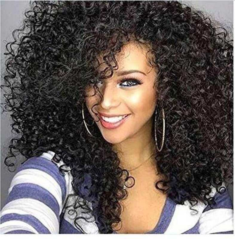 MISS WIG Hitam Dicampur Rambut Palsu Keriting untuk Wanita Wig Afro Rambut  Sintetis Afrika Gaya Rambut f101045154