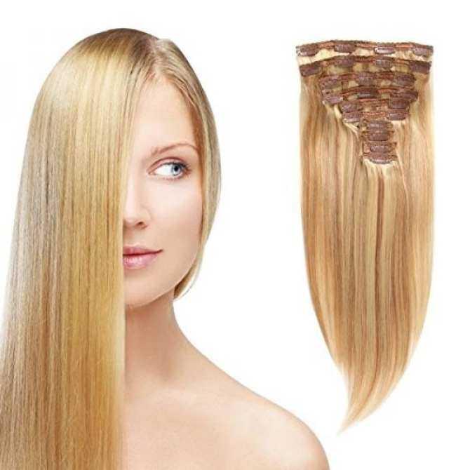 Moda Mode Clip In Straight Hair Brazilian Human Hair Extensions Clip