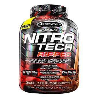 MuscleTech Nitro Tech Ripped, Chocolate Fudge Brownie, 4lbs