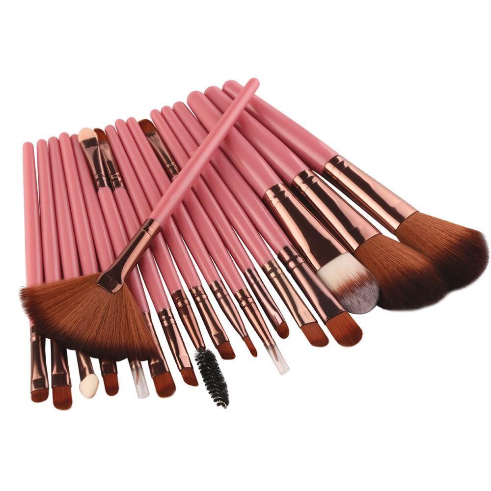 Vienna Linz Kuas Cosmetic 18 Pcs Professional Make Up Brushes Makeup Lembut New Brush Set Tools Toiletry Kit Wool