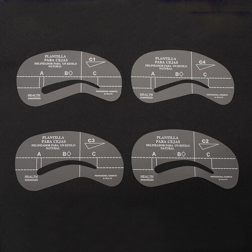 New 4 Styles Eyebrow Grooming Stencil Template Make Up Shaping Shaper Kit Tools - intl tốt nhất