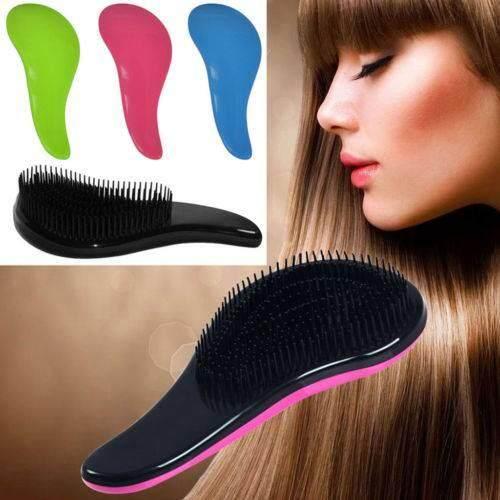 New Hair Brush Comb Magic Comb Salon Styling Detangling Handle Shower Tamer Hairbrush-Red - intl
