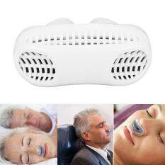 Niceeshop Silikon Anti Dengkur Mudah Tidur Napas Bantuan Menghilangkan Penjepit Hidung Pembersih Udara (Putih)