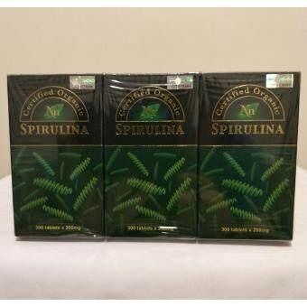 Nn (Set of 3) Certified Organic Spirulina 300 tablets
