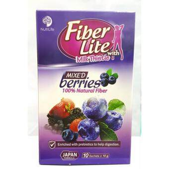 NutriLife Fiber Lite with Milk Thistle (Mixed Berries) 18g X 10 sachets
